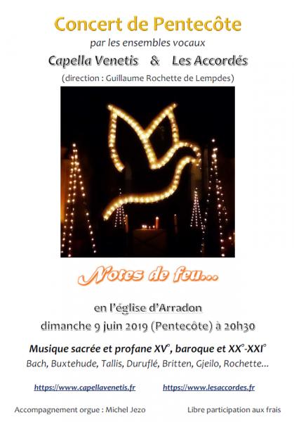 Affiche de notre concert de Pentecôte 2019